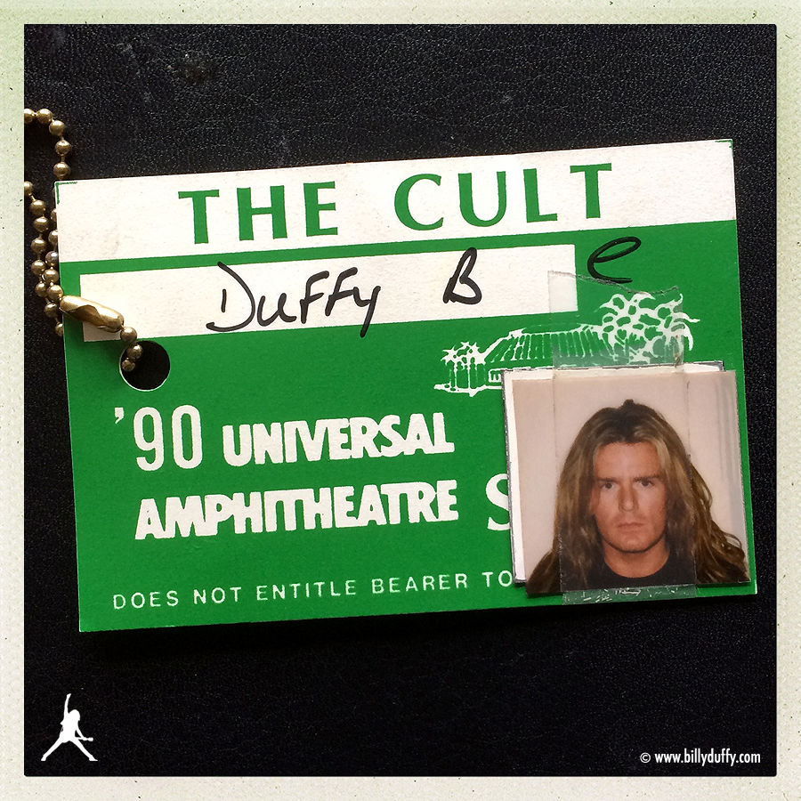 Billy's Photo Pass from Universal Amphitheatre - 1990