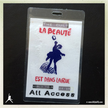 Billy's Laminate from The Cult World Tour 94/95