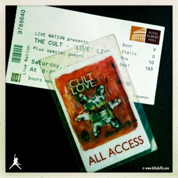 The Cult – Love LIVE Laminate and Albert Hall Ticket, 10-10-2009