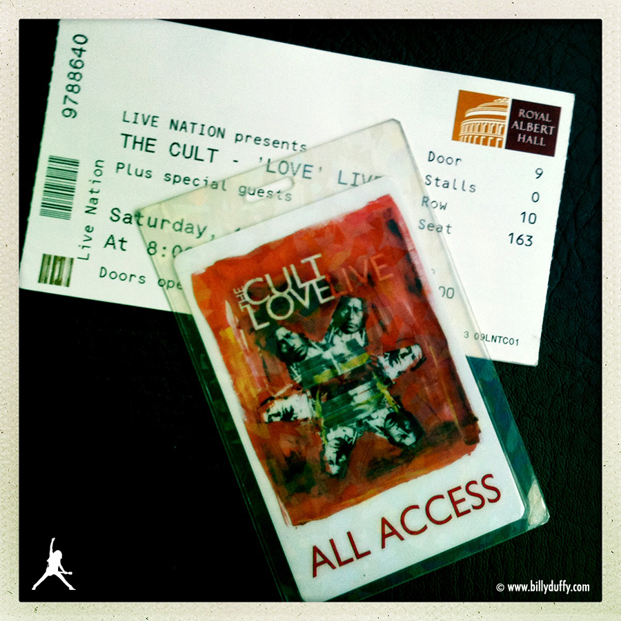 The Cult - Love LIVE Laminate and Albert Hall Ticket