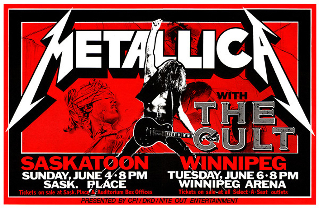 Metallica & The Cult - June 1989
