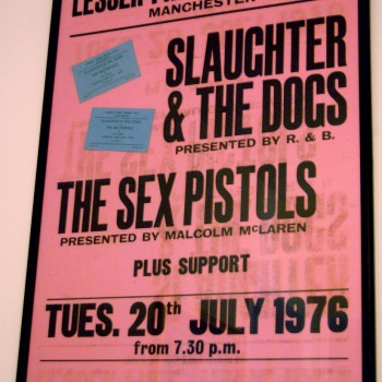 Billy's Sex Pistols Poster from Manchester 1976