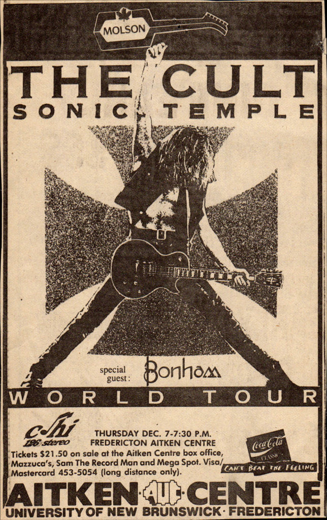 Sonic Temple World Tour - Canada - December 1989