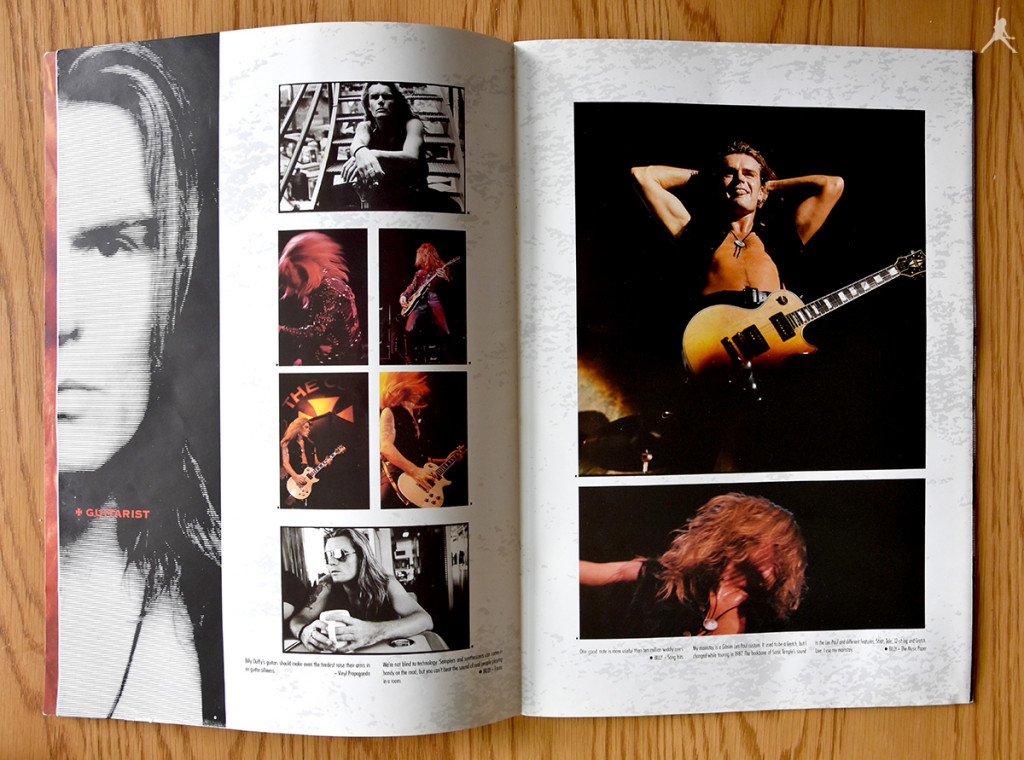 Billy Duffy's pages in The Cult 'Sonic Temple' World Tour Programme 1989-90