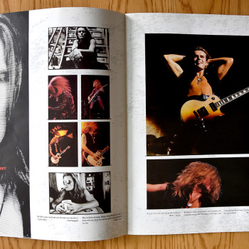 Billy's pages in The Cult 'Sonic Temple' World Tour Programme 89-90