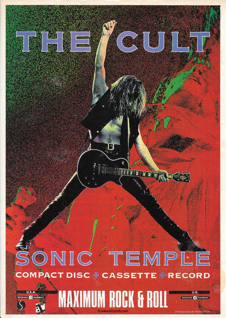 Maximum Rock & Roll... The Cult 'Sonic Temple' Press Ad