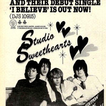 Advert for the Studio Sweethearts Single – 1979