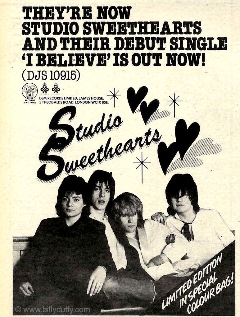 Advert for the Studio Sweethearts Single - 1979