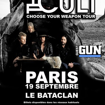 The Cult Gig Poster – Paris 19-10-2012