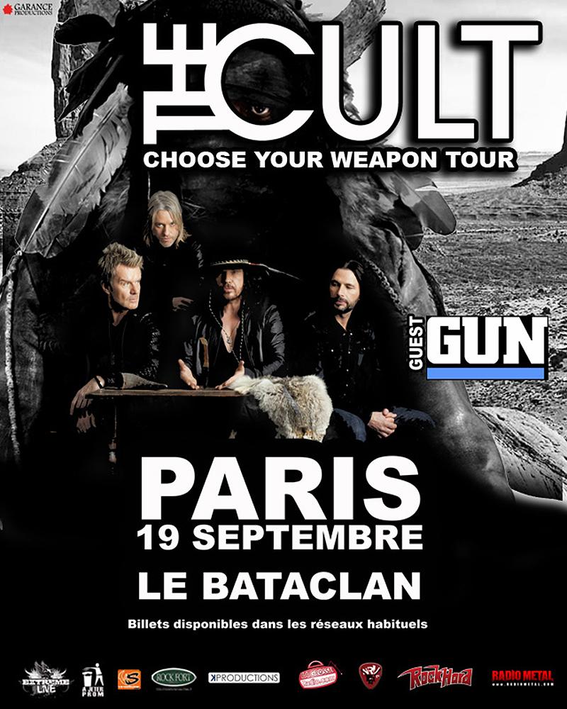 The Cult Gig Poster - Paris 19-10-2012
