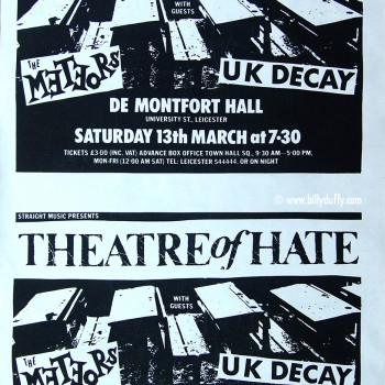 Theatre of Hate Poster 13-03-1982