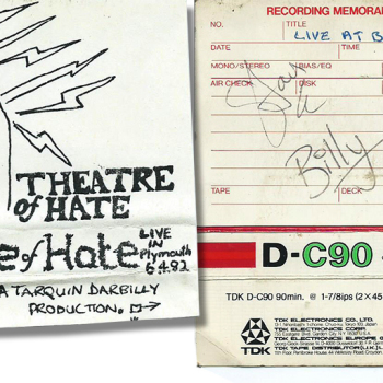 Theatre of Hate Bootleg Cassette – Signed by Billy