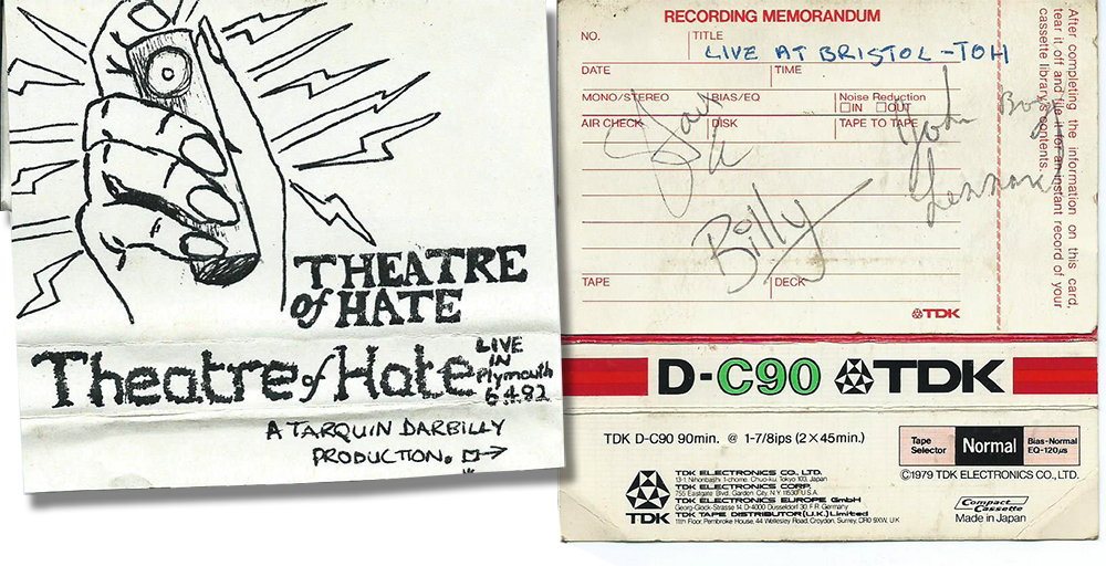Theatre of Hate Bootleg Cassette - Signed by Billy Duffy