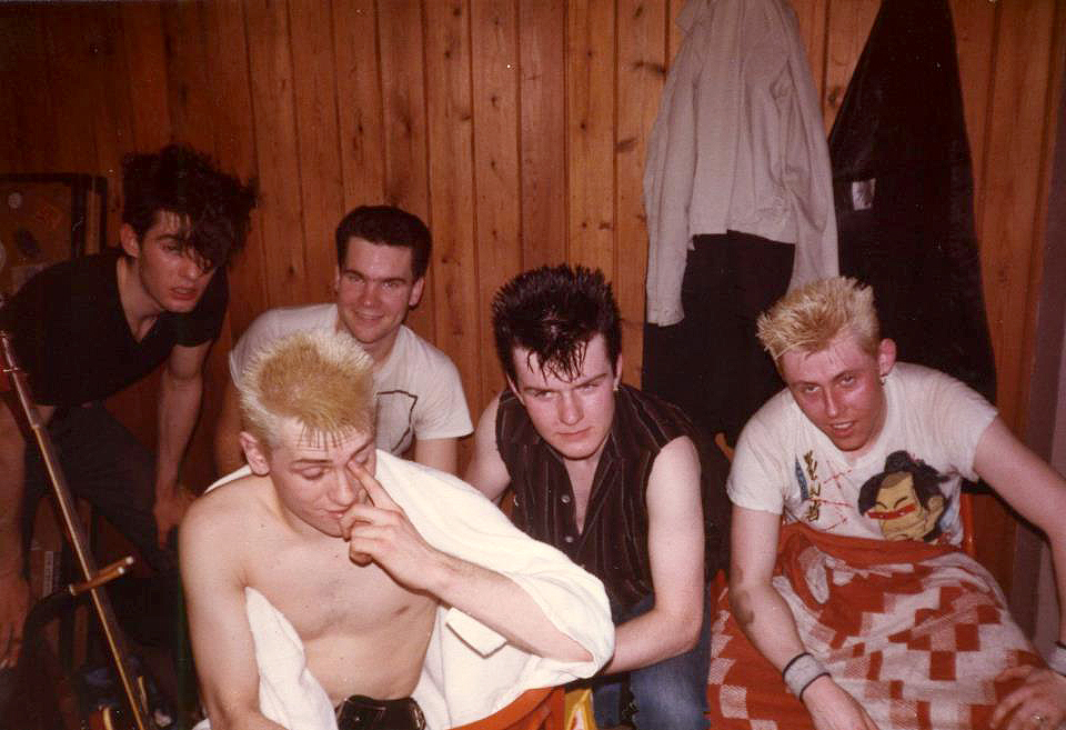 Billy Duffy Backstage with Theatre of Hate - 1982