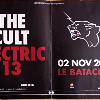 Poster for The Cult 'Electric 13' in Paris – 2013