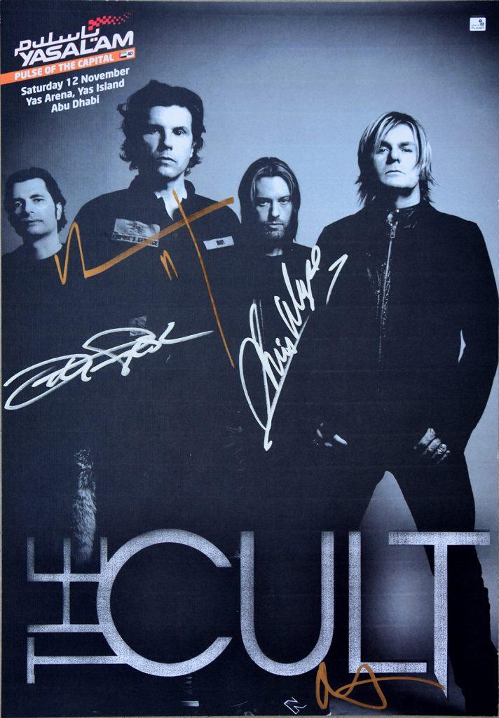 The Cult Gig Poster - Abu Dhabi 12-11-2011