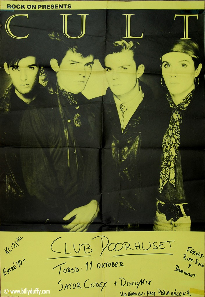 The Cult Poster 11-10-1984
