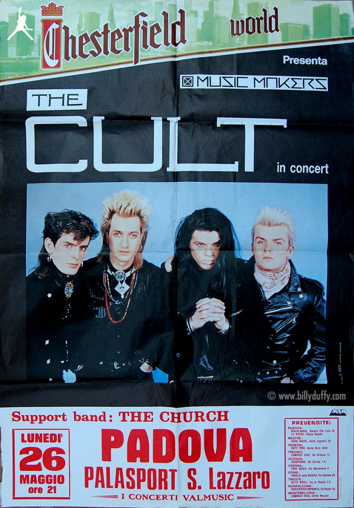 The Cult Poster - Padova 26-05-1986