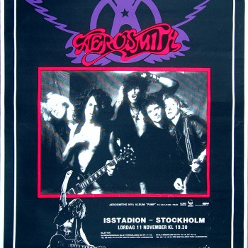 Aerosmith and The Cult Poster – Sweden 11-11-1989