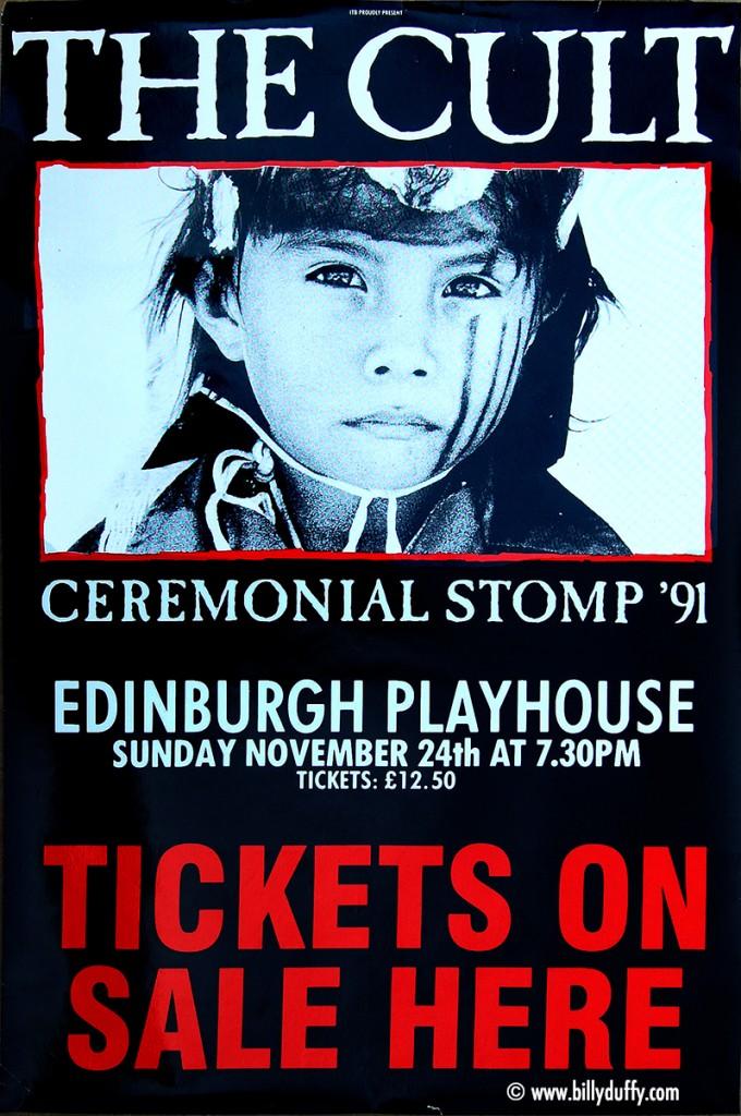 The Cult Poster - Edinburgh 24-11-1991