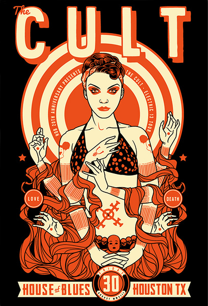 The Cult Gig Poster 30-08-2013
