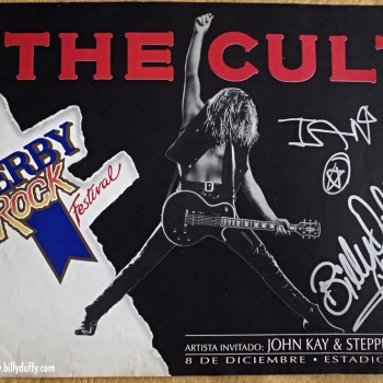 Flyer from The Cult in Argentina – 1991