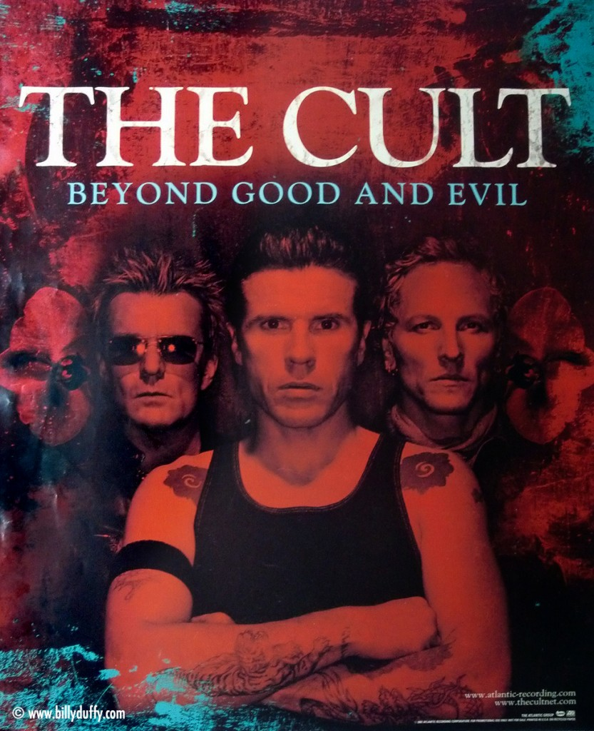 The Cult 'Beyond Good & Evil' promo poster - 2001