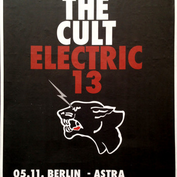The Cult 'Electric 13' Germany Poster – 2013