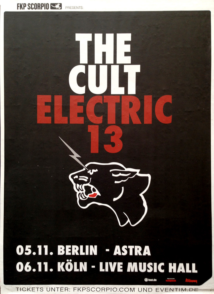 The Cult 'Electric 13' Germany Poster - 2013
