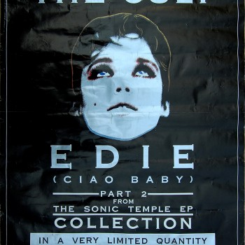 The Cult 'Edie' Promo poster – 1989