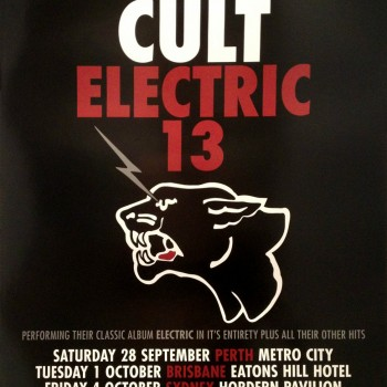The Cult 'Electric 13' Australia Poster – 2013