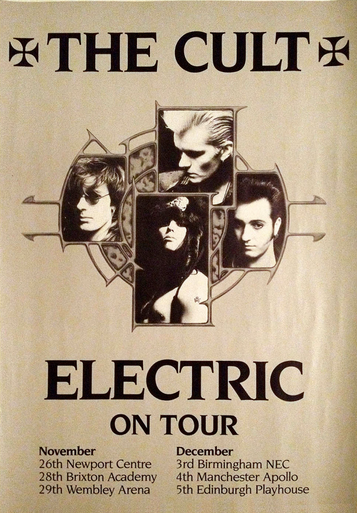 The Cult 'Electric' UK Tour Poster