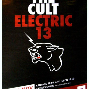 The Cult 'Electric 13' Gig Poster 04-11-2013