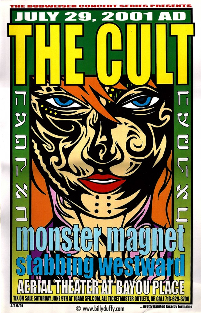 The Cult Poster - Houston 29-07-2001