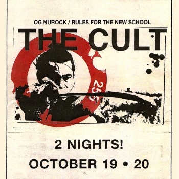 The Cult Poster – The Wiltern Theatre 19-10-2002
