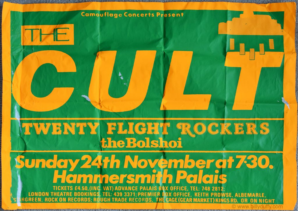 The Cult Poster - London 1985