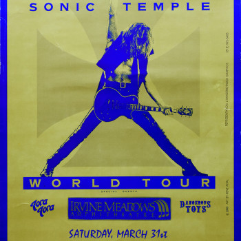 The Cult Gig Poster 31-03-1990