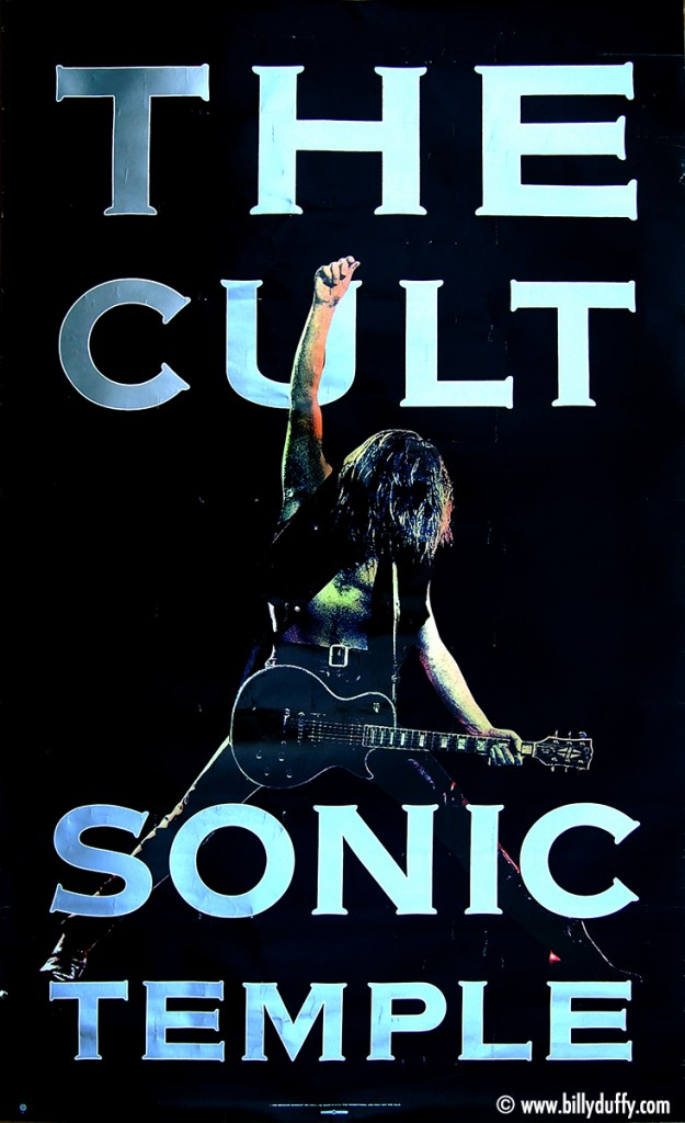 The Cult Sonic Temple Promo Poster - 1989