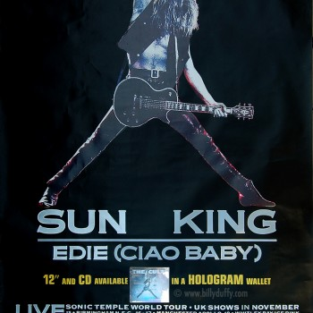 The Cult 'Sun King' Promo Poster – 1989