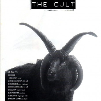 The Cult UK Tour Poster – 1994