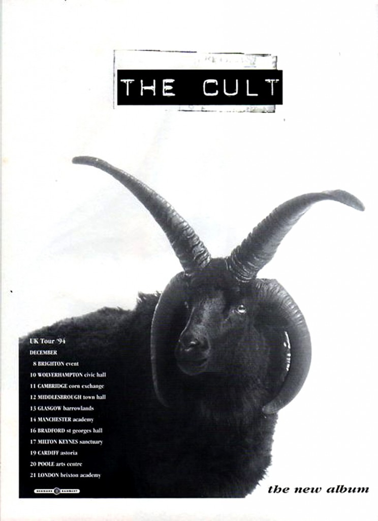The Cult UK Tour Poster - 1994