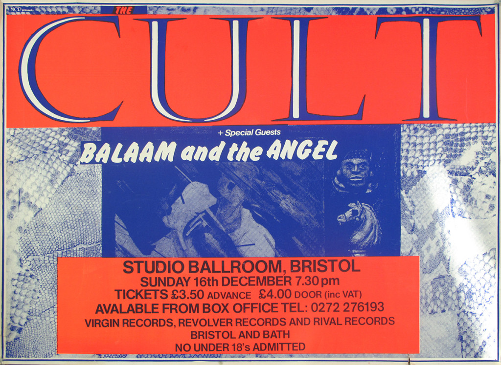 The Cult Poster - Bristol 16-12-1984