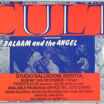 The Cult Poster – Bristol 16-12-1984