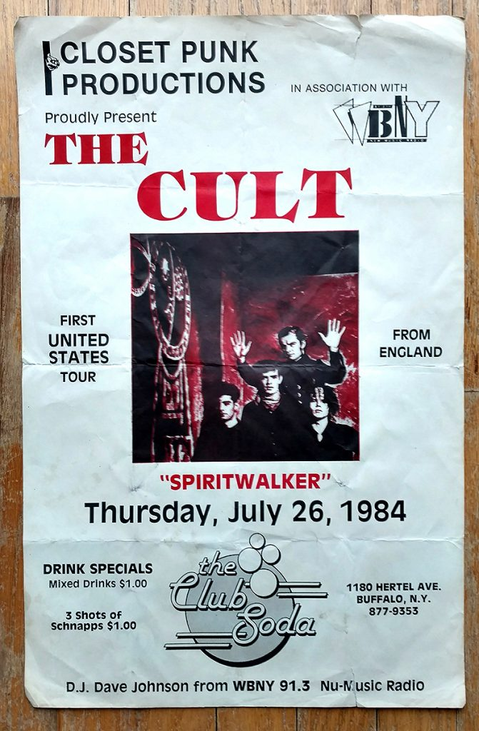 The Cult poster 26-07-1984