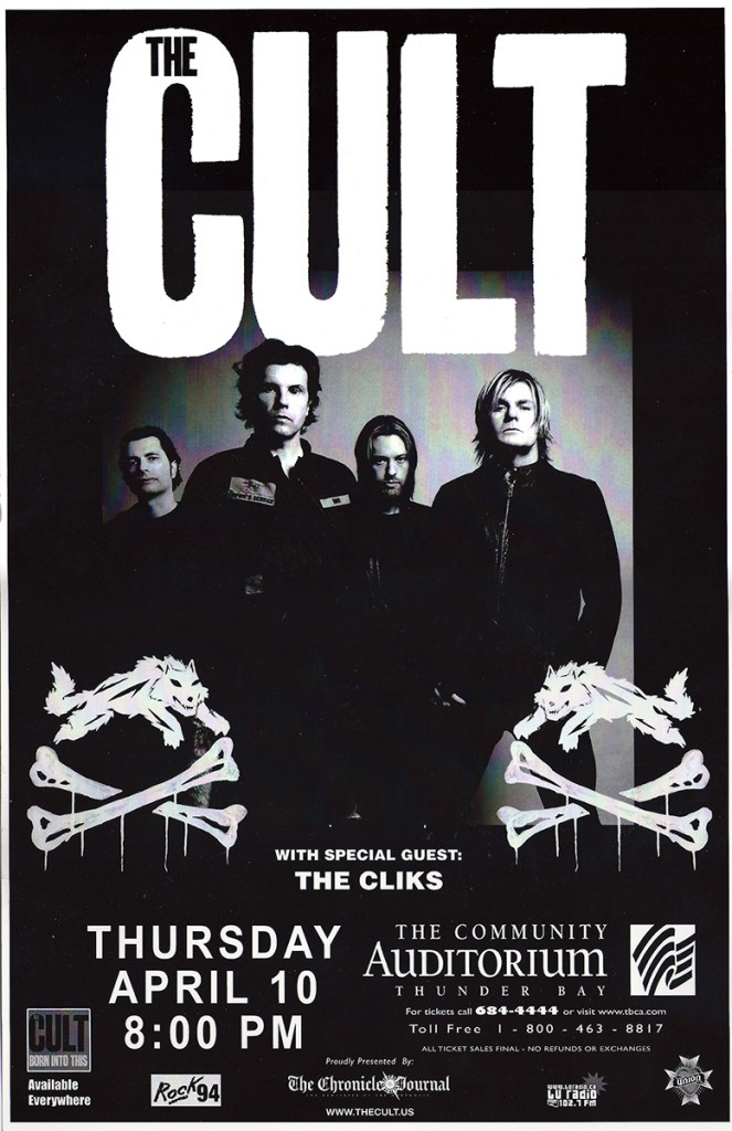 The Cult Poster - Ontario 10-04-2008