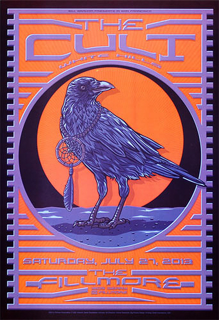 The Cult Fillmore Poster 27-07-2013