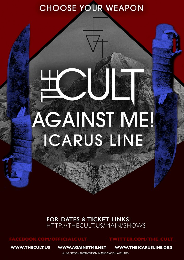 The Cult US Tour Poster - 2012