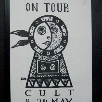 Billy's itinerary from The Cult UK Tour – 1984