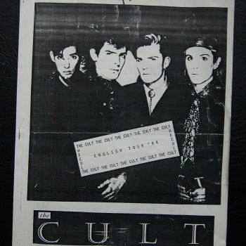 Billy's itinerary from The Cult 'Dreamtime' Tour – 1984