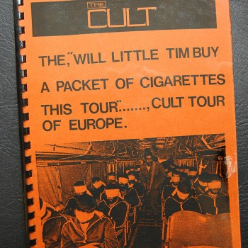Billy's itinerary book from The Cult European tour -1986